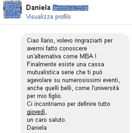 Testimonianze Daniela