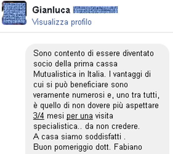 Testimonianze Gianluca