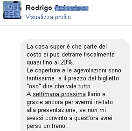 Testimonianze Rodrigo